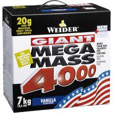 Описание средства по наращиванию мышечной массы Weider Giant Mega Mass 4000