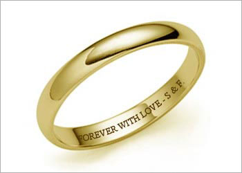 Гравировка на свадебных кольцах — рекомендации и советы
