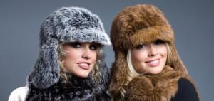вязаный мех, шапки