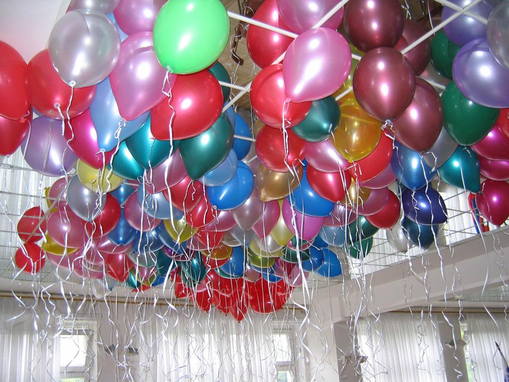 Советы по украшению зала воздушными шарами