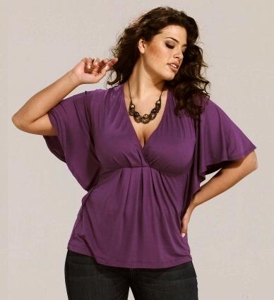 Как выбрать блузку полной женщине