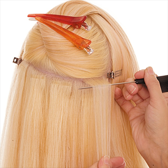 Как делать коррекцию ленточного наращивания волос