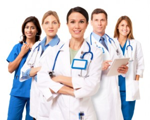 Health Care Professionals on White