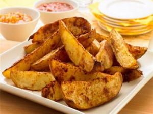 Хрустящий жареный картофель