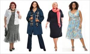 выбор модной одежды для полных женщин