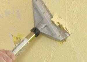 Как убрать старую краску со стены, с помощью применения химии